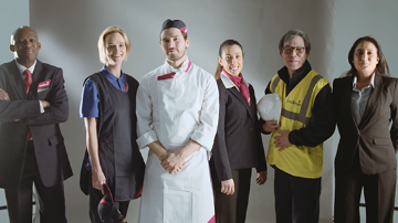 A group of Sodexo employees in uniform